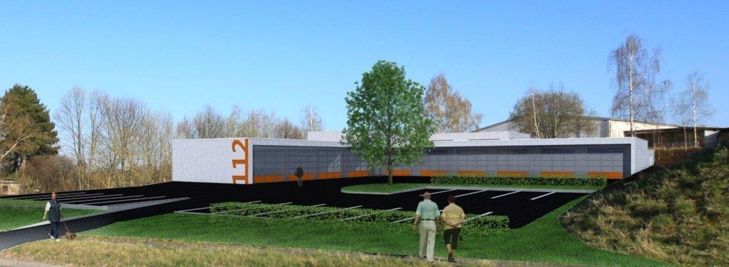 Erster Spatenstich ist getan: Bau der neuen Rettungswache in Gersdorf beginnt